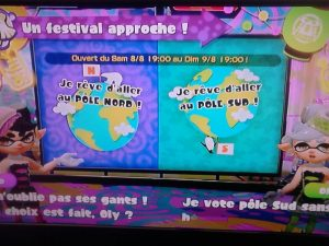 Splatoon Festival Pole Nord vs Pole Sud